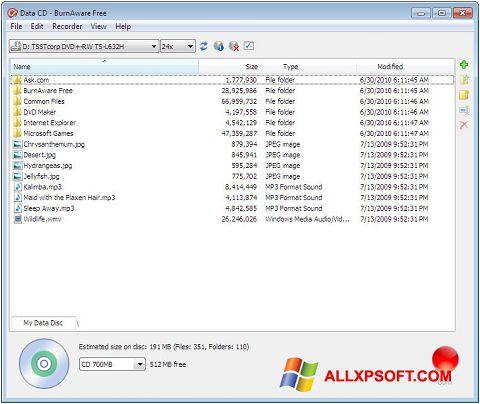 截图 BurnAware Free Windows XP