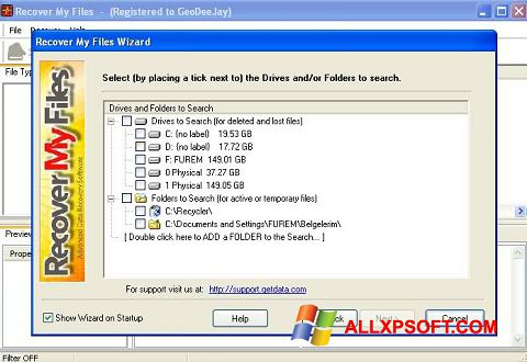 截图 Recover My Files Windows XP