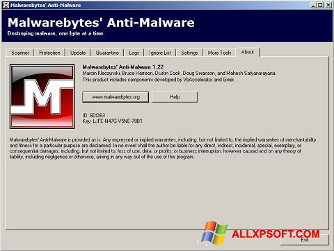 截图 Malwarebytes Anti-Malware Free Windows XP