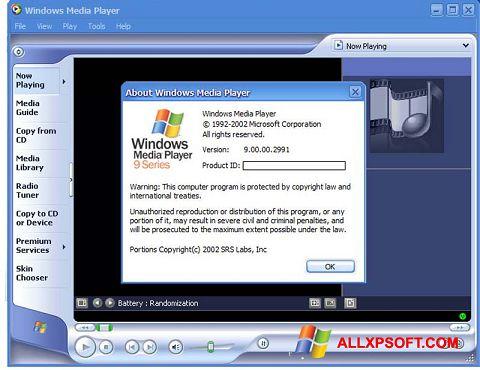截图 Windows Media Player Windows XP