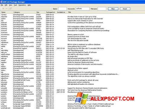截图 MiKTeX Windows XP