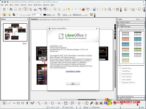 截图 LibreOffice Windows XP