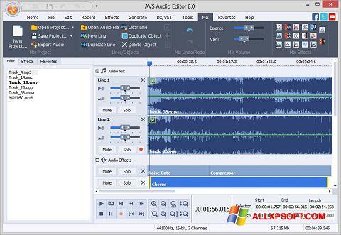 截图 AVS Audio Editor Windows XP