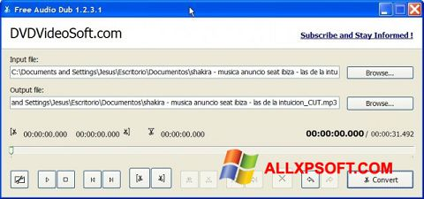 截图 Free Audio Dub Windows XP