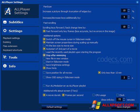 截图 ALLPlayer Windows XP