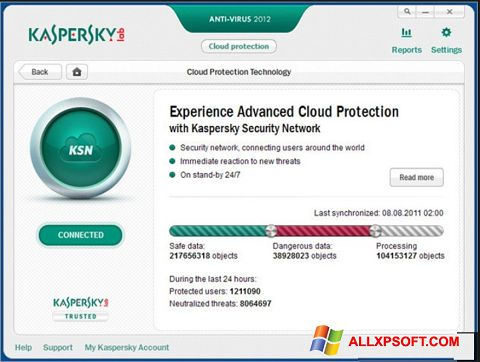 截图 Kaspersky Windows XP