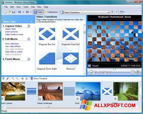 截图 Windows Movie Maker Windows XP