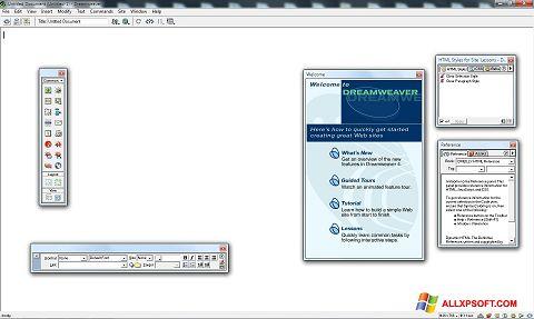 截图 Macromedia Dreamweaver Windows XP