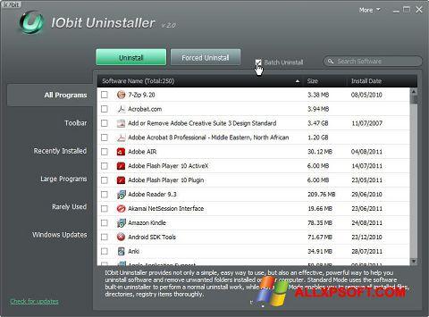 截图 IObit Uninstaller Windows XP
