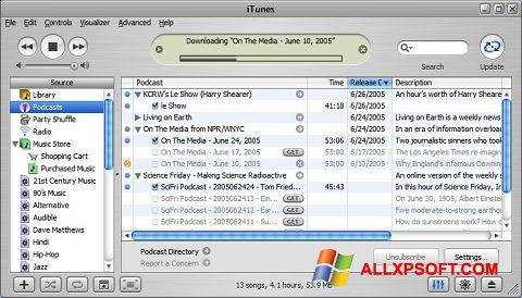 截图 iTunes Windows XP