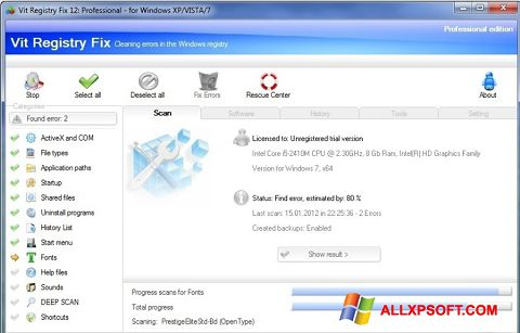 截图 Vit Registry Fix Windows XP