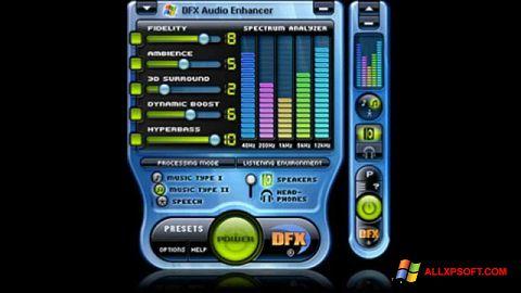 截图 DFX Audio Enhancer Windows XP