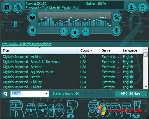 截图 RadioSure Windows XP