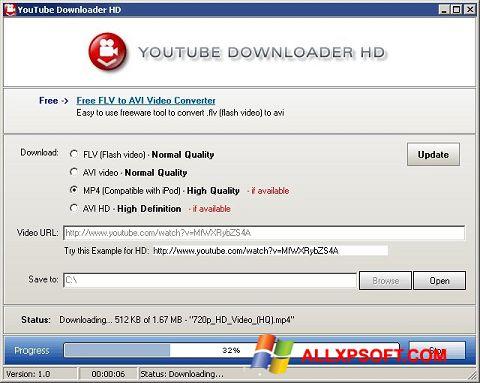 截图 Youtube Downloader HD Windows XP