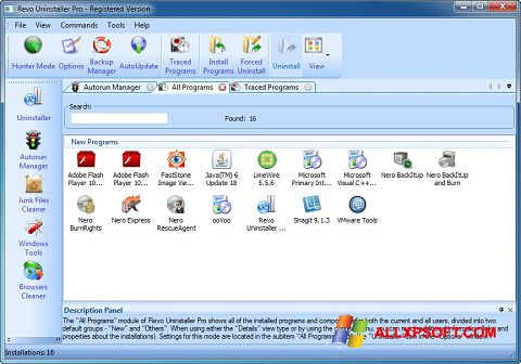 截图 Revo Uninstaller Pro Windows XP